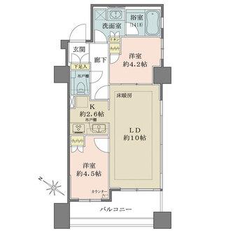 シェフルール駒込駅前の間取図