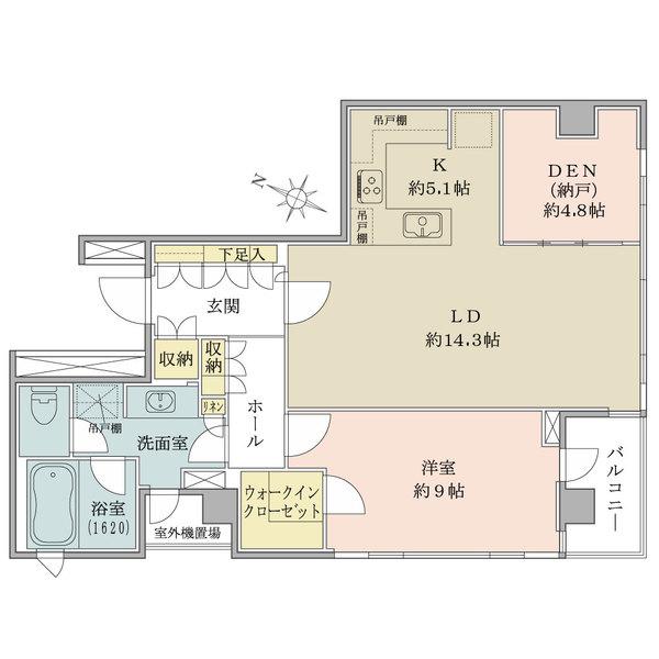 パークハウス常磐松の間取図