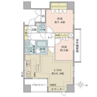 恵比寿パークハウスの間取図