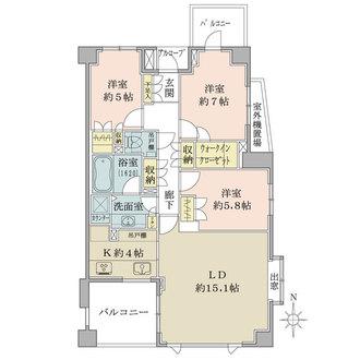 代田パークハウスの間取図