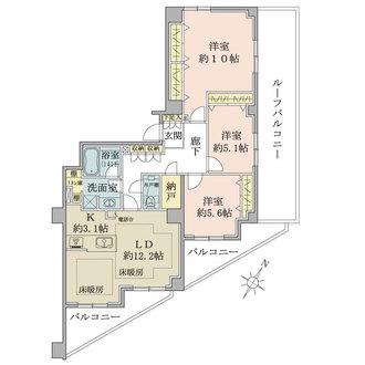 渋谷神山町レジデンスの間取図