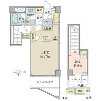 オープンレジデンシア広尾ザ・ハウスの間取図