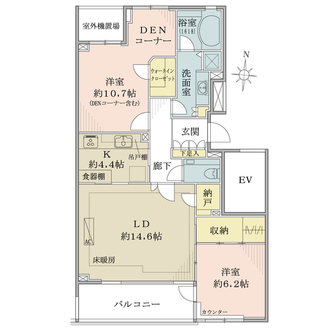 ザ・フィネスト上野毛パークハウスの間取図