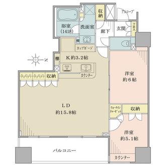 上野アインスタワーの間取図