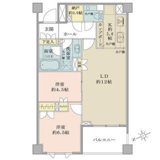 パークコート渋谷大山町ザプラネ翠邸の間取図