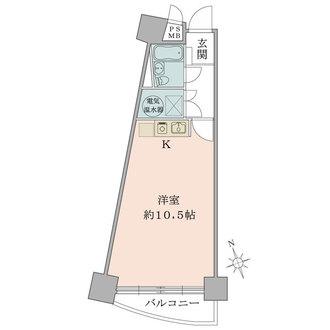 シャンボール北新宿の間取図