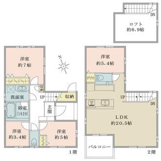 B号棟の間取図