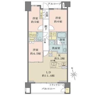 ザ・パークハウス宮崎台ガーデンの間取図