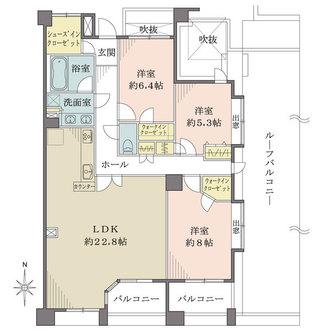 恵比寿シティハウスの間取図