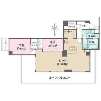 ライオンズマンション広尾第二の間取図