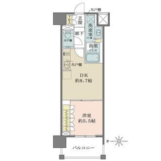 ザ・パークハウスアーバンス渋谷の間取図