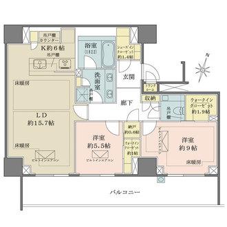 ザ・パークハウス 渋谷南平台の間取図