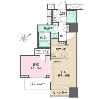 ザ・パークハウス三軒茶屋タワーの間取図