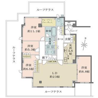 パークハウス神宮外苑の間取図