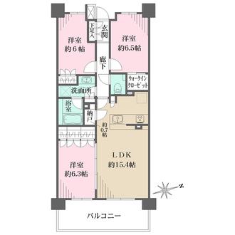 ザ・パークハウス宮前平の間取図