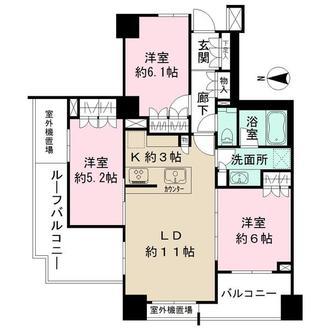 ザ・パークハウス武蔵小金井の間取図