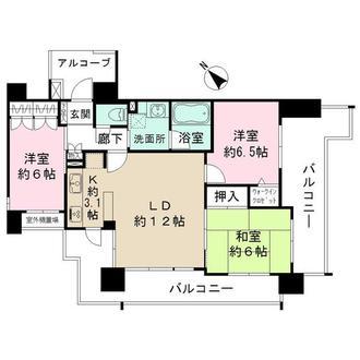 グローベルガーデン豊田ディーセントスクエアの間取図