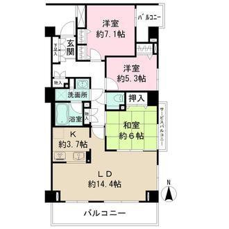 武蔵境パークハウスの間取図