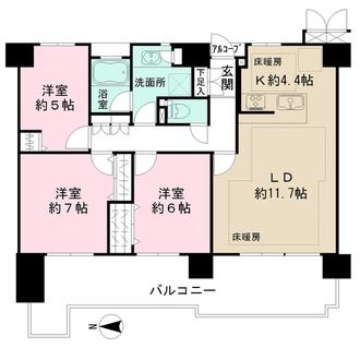 国分寺パークハウスの間取図