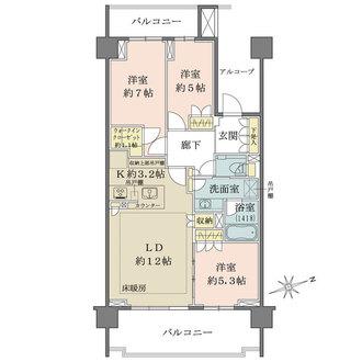 ザ・パークハウス武蔵野中町の間取図