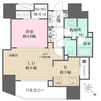 ザ・パークハウス新宿御苑西の間取図