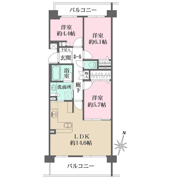 シティクレスト横浜妙蓮寺の間取図