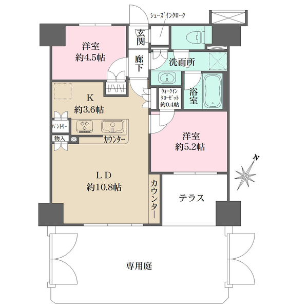 BELISTA横浜四番館の間取図