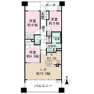 パークハウス鶴見栄町公園の間取図