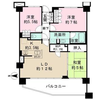 ミソラシア横浜桜ヶ丘の間取図