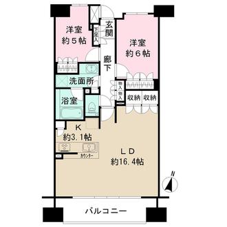 ザ・パークハウス横浜吉野町の間取図