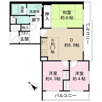 藤和金沢文庫コープIIの間取図