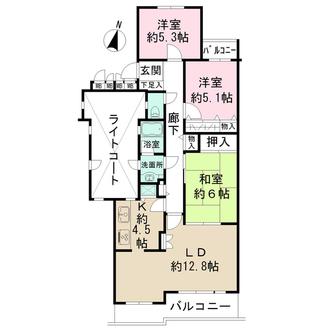 藤和ライブタウン日吉の間取図