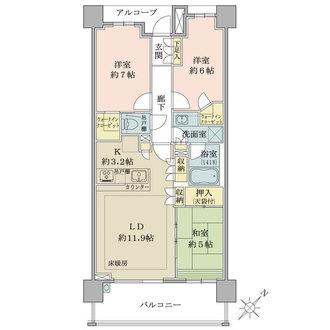 ザ・パークハウス横浜新子安ガーデンの間取図