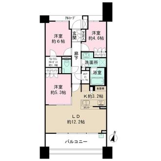 ザ・パークハウス新川崎の間取図