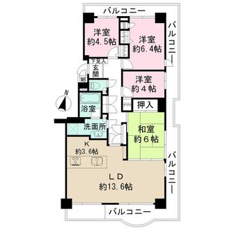 パークシティ金沢八景の間取図
