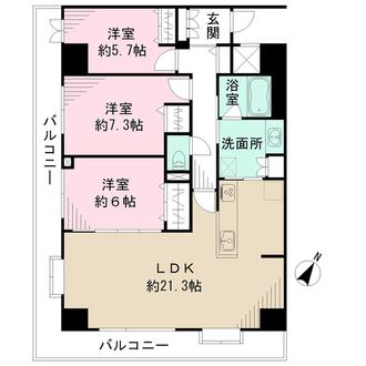 藤和阪東橋ハイタウンの間取図