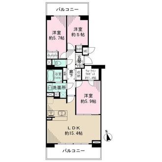 横浜・星の丘ViewCityの間取図
