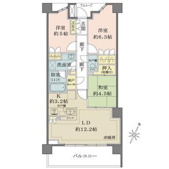 ザ・パークハウス横浜大口の間取図
