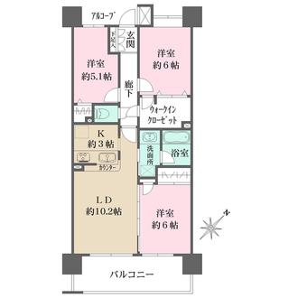 ベイステージ横浜432の間取図