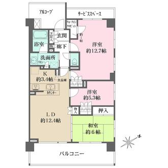 ザ・パークハウス横浜岸谷の間取図