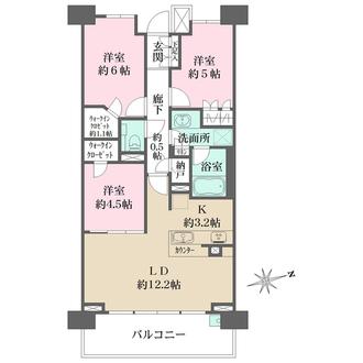 ザ・パークハウス横濱中山の間取図