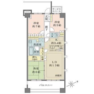 ザ・パークハウス港北高田の間取図