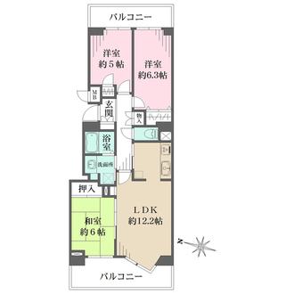 横浜・星の丘ViewCityレグルスルーフ(B棟)の間取図