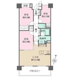 横浜高砂パークハウスの間取図