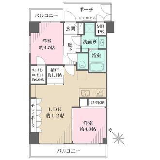ライオンズマンション横浜第三の間取図