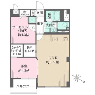 横浜ハイツの間取図