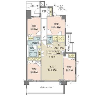 ザ・パークハウス横浜新子安テラスの間取図