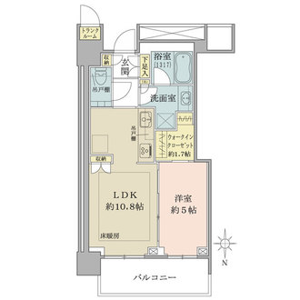 ザ・パークハウス晴海タワーズクロノレジデンスの間取図