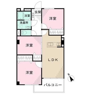 南砂住宅2号棟の間取図