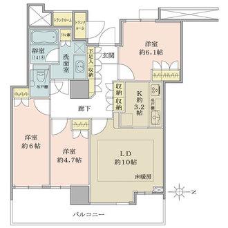 豊洲シエルタワーの間取図